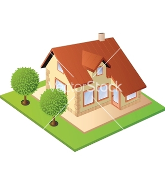 Free isometric house vector - Kostenloses vector #240191