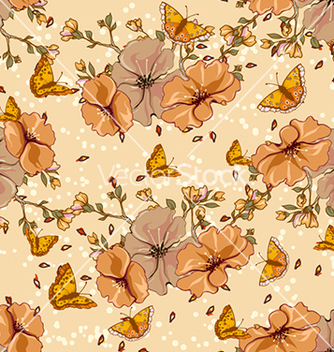 Free seamless floral background vector - Free vector #240611