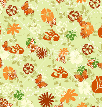 Free seamless floral background vector - Free vector #240621