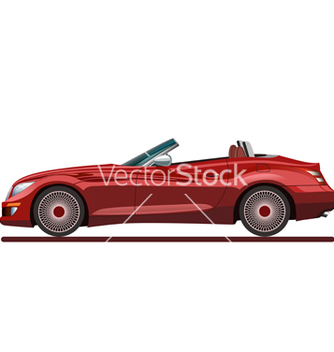 Free red beautiful sport car vector - Free vector #240711