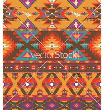 Free seamless colorful aztec pattern vector - Free vector #240741