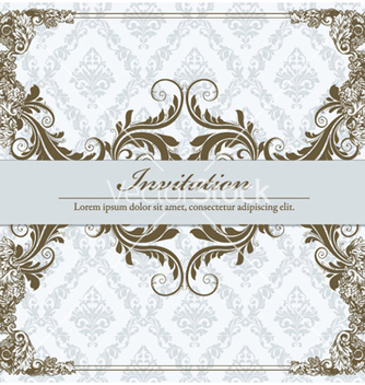 Free vintage floral frame vector - Kostenloses vector #240761