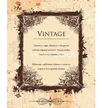 Free vintage floral frame vector - Kostenloses vector #240791