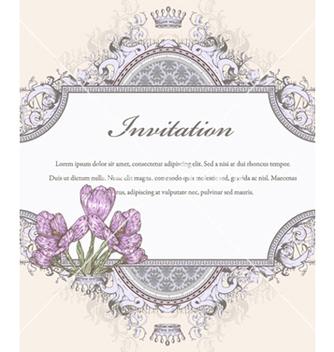 Free vintage floral frame vector - Kostenloses vector #240831