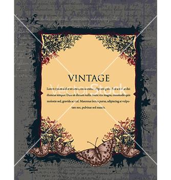 Free vintage floral frame vector - Kostenloses vector #240961