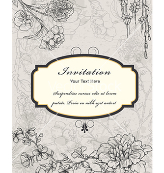 Free vintage floral frame vector - Kostenloses vector #240971