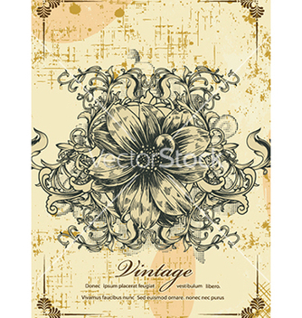 Free vintage floral background vector - Free vector #240991