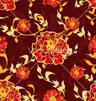 Free seamless floral background vector - Free vector #241001