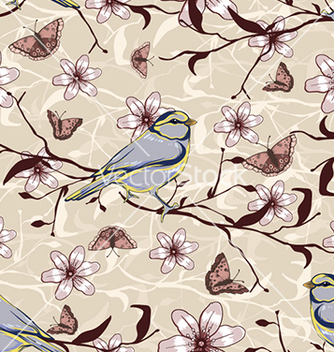 Free seamless floral background vector - Free vector #241041