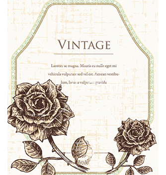 Free vintage frame with floral vector - Kostenloses vector #241071