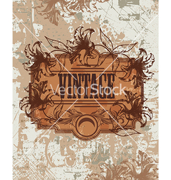 Free grunge floral frame vector - Free vector #241101