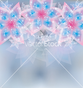 Free floral light background greeting or invitation vector - Free vector #241671