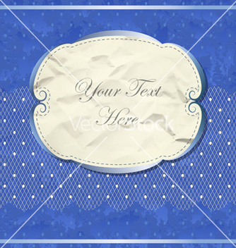 Free blue vintage banner with lace vector - Kostenloses vector #242231