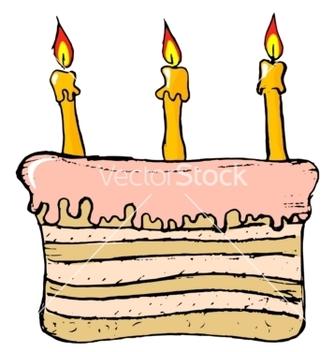 Free birthday cake vector - Free vector #242281