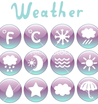 Free weather icons set vector - Free vector #242301