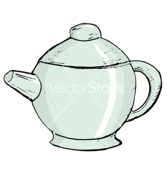 Free china teapot vector - vector #242351 gratis