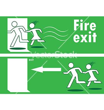Free emergency fire exit vector - Kostenloses vector #242651