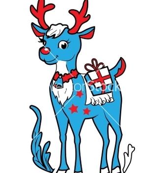Free xmas reindeer rudolf vector - vector gratuit #242671