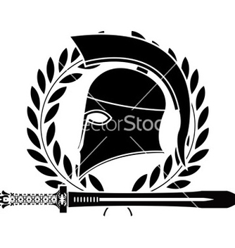 Free fantasy hellenic sword and helmet vector - Free vector #242731