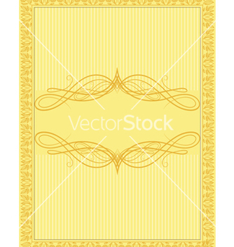 Free vintage floral frame vector - Kostenloses vector #242811