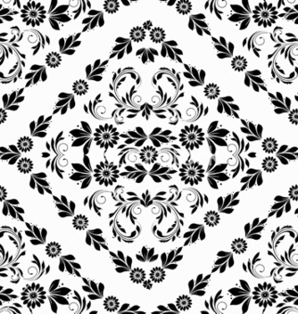 Free damask seamless pattern vector - Free vector #242911