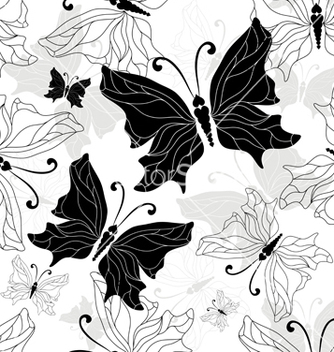 Free black white butterfly vector - Free vector #242971