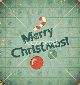 Free christmas retro postcard vector - Kostenloses vector #243021