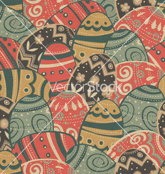 Free seamless easter eggs pattern vector - Free vector #243051