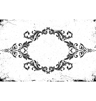 Free grunge frame with floral vector - Free vector #243081