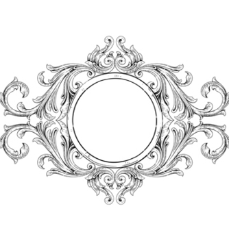 Free vintage floral frame vector - Free vector #243091