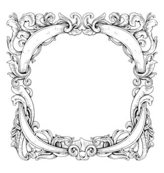 Free vintage floral frame vector - Free vector #243101