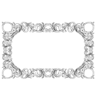 Free vintage floral frame vector - Kostenloses vector #243131