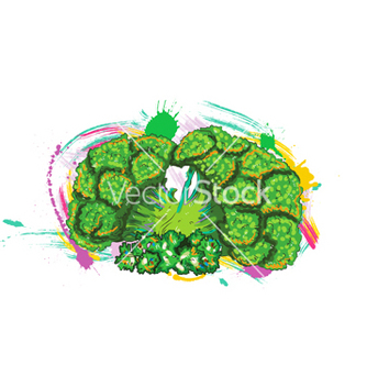 Free vegetables with grunge vector - Free vector #243171