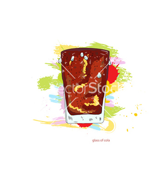 Free glass of cola vector - Kostenloses vector #243251