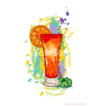 Free tequila sunrise cocktail vector - Kostenloses vector #243261