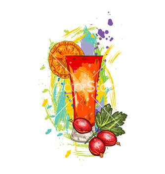 Free fruits with colorful splashes vector - Free vector #243301