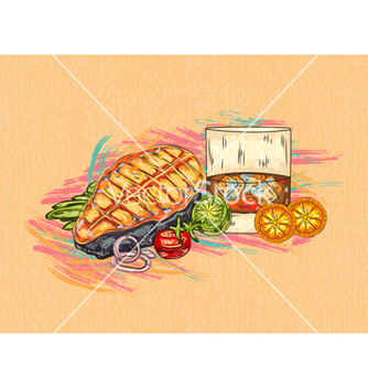 Free cooked fish vector - Free vector #243351