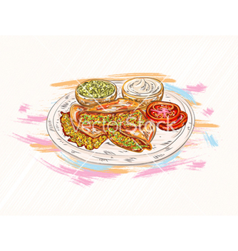 Free food with grunge vector - Kostenloses vector #243361