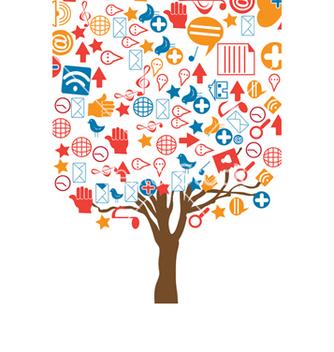 Free social media concept vector - Kostenloses vector #243431