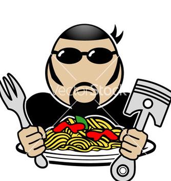 Free spaghetti rider vector - Free vector #243781