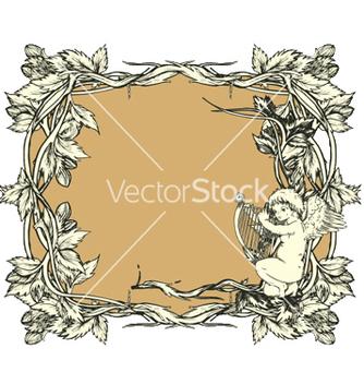 Free vintage floral frame vector - Free vector #243941