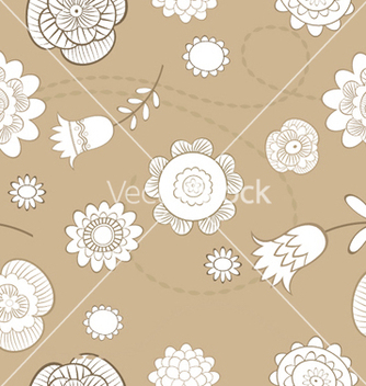 Free floral seamless pattern vector - Free vector #244091