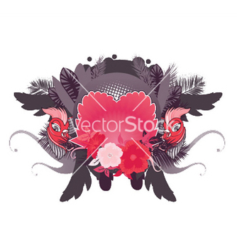 Free abstract floral frame vector - Free vector #244181