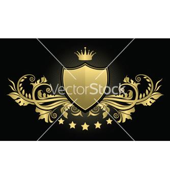Free vintage emblem with shield vector - Kostenloses vector #244691