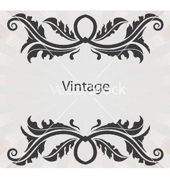 Free vintage floral frame vector - Free vector #244761