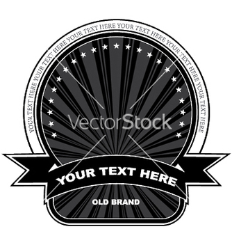 Free vintage label with scroll vector - Free vector #244991