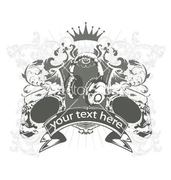 Free vintage music emblem vector - Kostenloses vector #245141