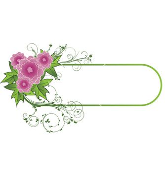 Free abstract floral frame vector - Free vector #245271