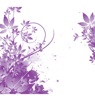 Free watercolor floral background vector - Free vector #245291