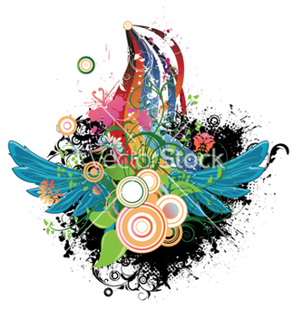Free abstract design with wings vector - Kostenloses vector #245711